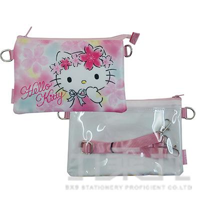 三麗鷗KITTY雙層觸控包-櫻花版 D3350031