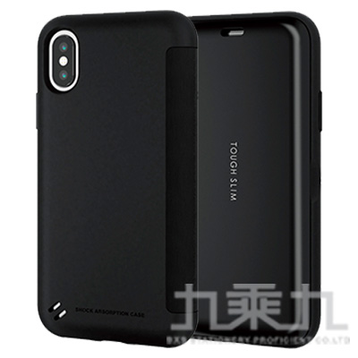 ELECOM iPhoneXS 5.8吋 TS薄型翻蓋殼-黑