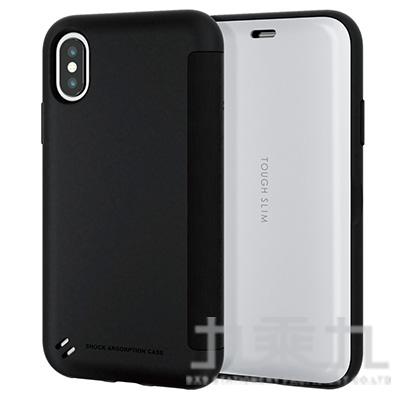 ELECOM iPhoneXS 5.8吋 TS薄型翻蓋殼-白