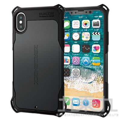 ELECOM iPhoneXS 5.8 ZS防撞殼黑