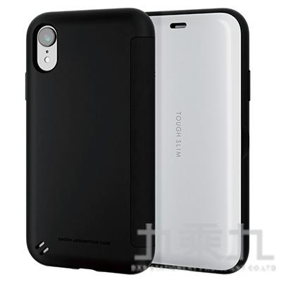 ELECOM iPhoneXR 6.1吋 TS薄型翻蓋殼-白