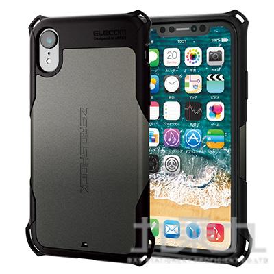 ELECOM iPhoneXR 6.1 ZS防撞殼金屬灰