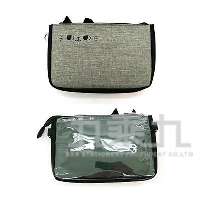 O-cat貓耳手機袋-加大(灰) JBG-193A