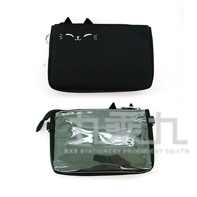 O-cat貓耳手機袋-加大(黑) JBG-193B