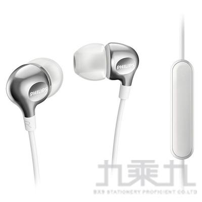 PHILIPS 重低音耳機麥克風(白) SHE3705WT
