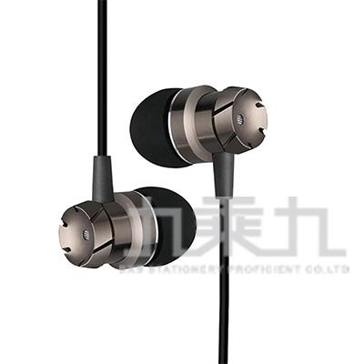 HL02Turbo渦輪金屬入耳式耳麥-黑 K-800
