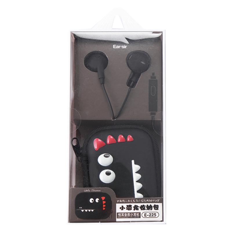 入耳式線控耳機(附小恐龍收納盒) CX-E225