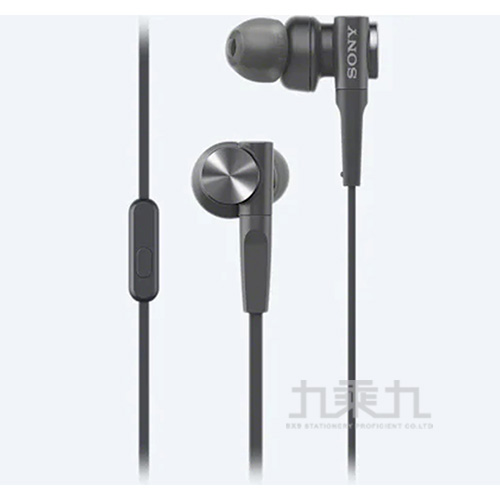 SONY重低音立體聲線控耳機麥克風(黑)