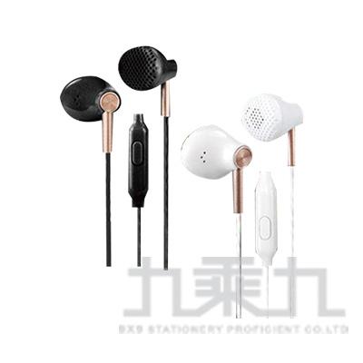KINYO硬式耳機麥克風(黑/白) IPEM-855