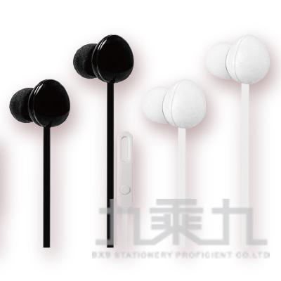 KINYO蛋形耳機麥克風(黑/白) IPEM-853