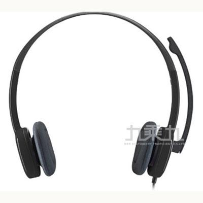 羅技 Logitech H151 立體聲耳機麥克風-黑
