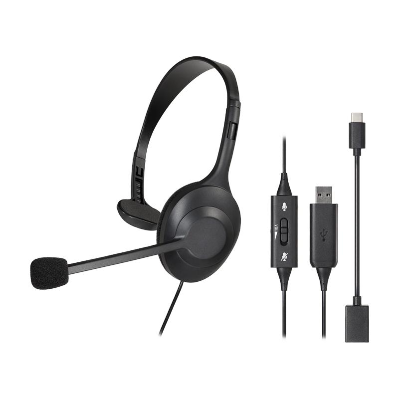 鐵三角USB單側耳機麥克風組101USB