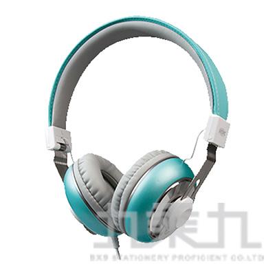 INTOPIC音樂摺疊耳機麥克風(藍) JAZZ-M308-BL