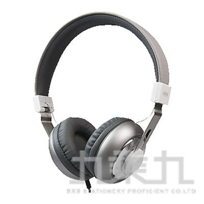 INTOPIC音樂摺疊耳機麥克風(鐵灰) JAZZ-M308-GR