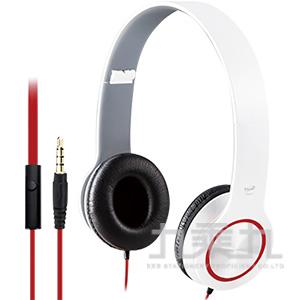 E-books S13 手機接聽鍵摺疊耳機-白 E-EPA073WH