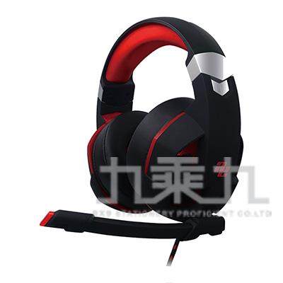 AUDIO EXTRA虛擬7.1聲道實戰震動電競耳機(紅黑)