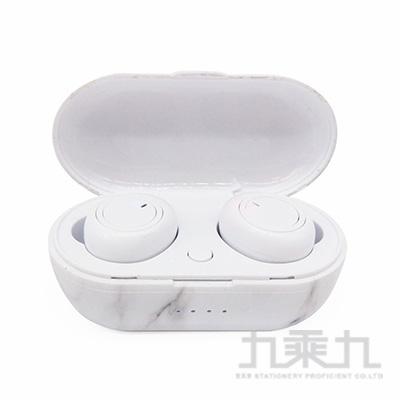 TS4真無線藍牙耳機-大理石條紋黑