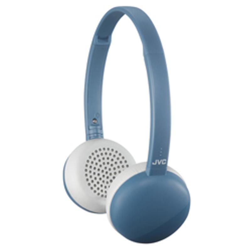 JVC耳罩式藍牙立體聲麥克風耳機-藍  HA-S28BT-A