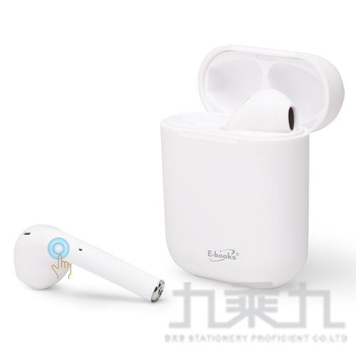 E-books SS18 真無線藍牙5.0耳機-白 E-EPA222WH