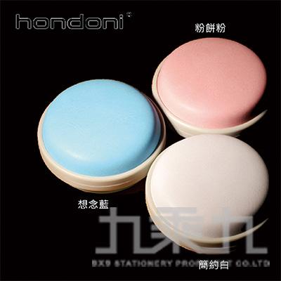 HONDONI 防震抗壓復古風耳機收納盒(粉餅紅) A8-PK