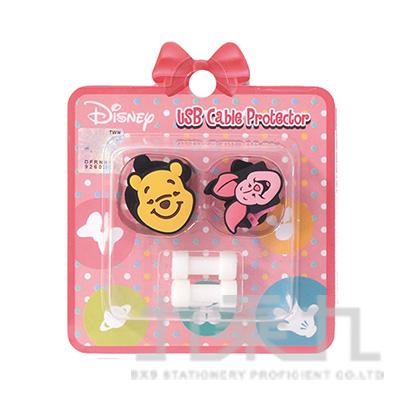 迪士尼USB線造型套組維尼&小豬 D31150084