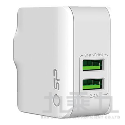 廣穎2.4A 雙孔USB智能充電器 WC102P