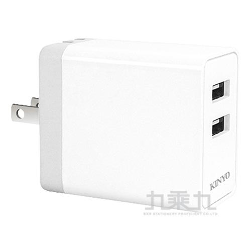 KINYO CUH-5325 USB雙孔充電器