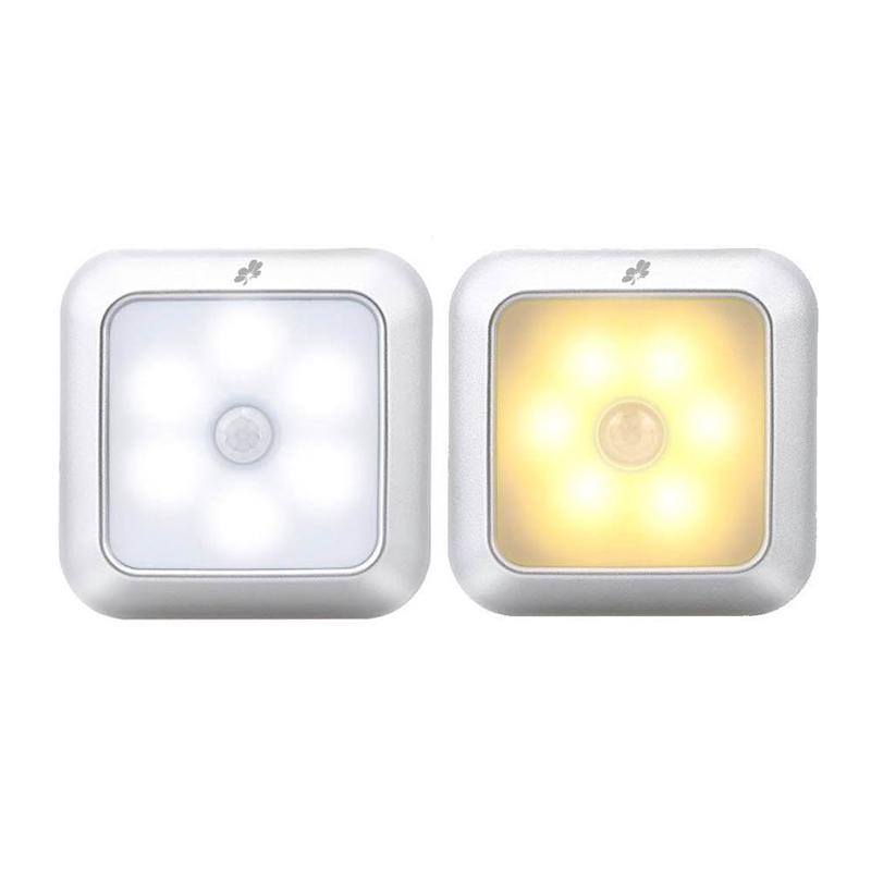 Alucky人體感應夜燈/磁吸(方形)