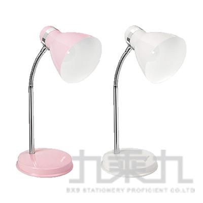 KINYO E27高亮度金屬檯燈(粉/白) PLED-422