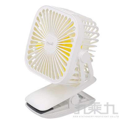 E-books K27 夾式360度任意轉充電風扇-白