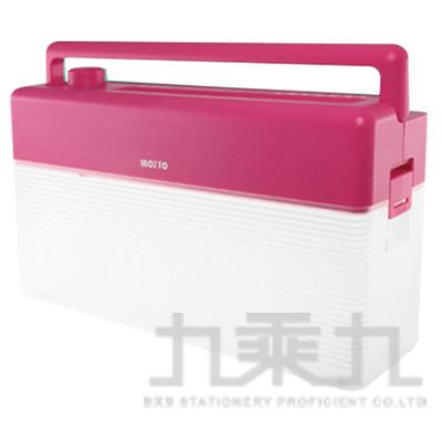 Inozto A4雙動能攜帶碎紙機(粉紅+透明) BOA4H