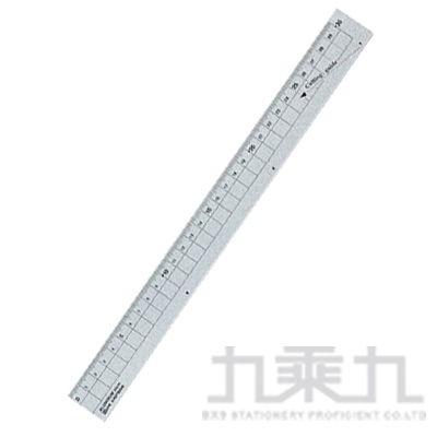 鋁製尺規30cm 銀 KUTSUWA:XS30SV