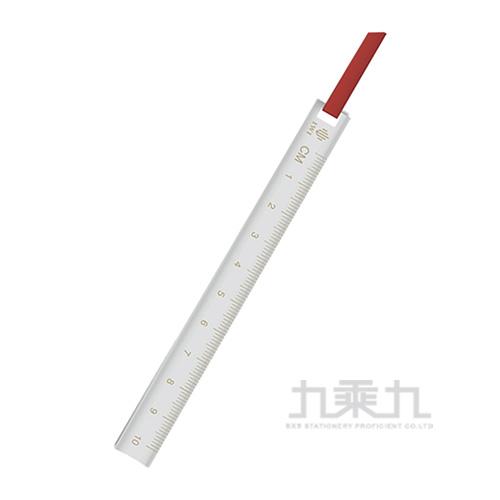 Ruler & Bookmark 不銹書籤尺 10cm-國旗紅RA010-12SS