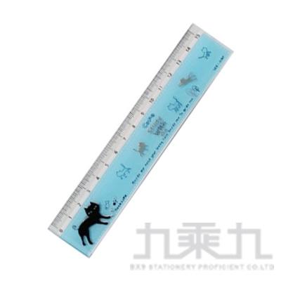 酷樂貓15公分溝引尺(藍) 3623-1