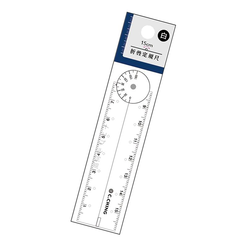 15cm 折疊定規尺(白)-Choice