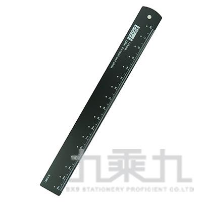 B&W世紀風華16公分鋼質定規尺(黑) YRE-76A