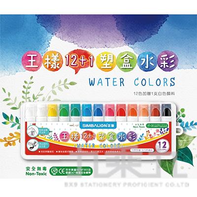 王樣12+1塑盒水彩 3203059A