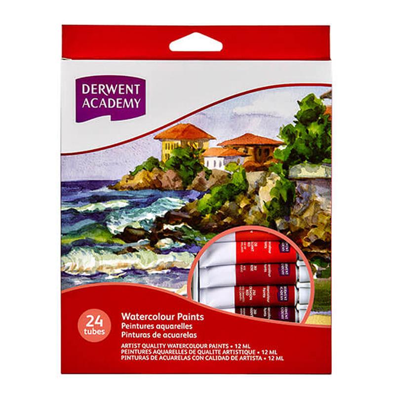 德爾文 DERWENT ACADEMY水彩顏料24色組 ACA-R33020