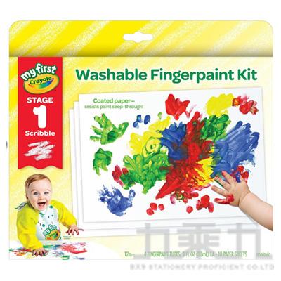 Crayola 幼兒可水洗手指畫顏料4色組(紅/黃/藍/綠)