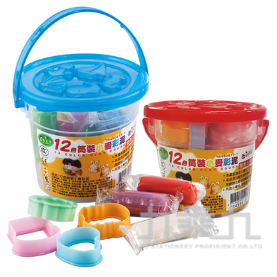 12色桶裝小麥彩泥 7R450517-1