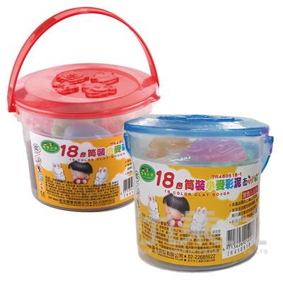 18色桶裝小麥彩泥 7R450518-1