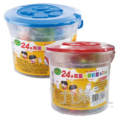 24色桶裝小麥彩泥 7R450519-1