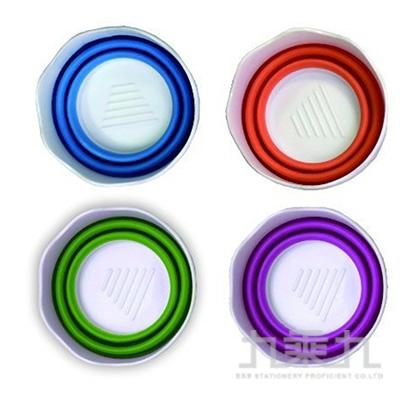 AP伸縮小洗筆桶-粉紫、藍、橘、綠色 E0160(顏色隨機出貨)