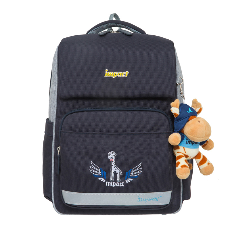 IMPACT歐式輕量護脊書包-深藍