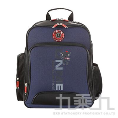 UNME多功能護脊書包-藍 3077N