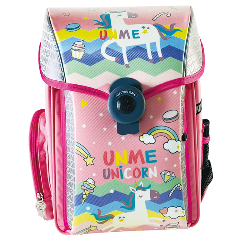 UNME夢想家U型護脊減壓磁扣書包-繽紛獨角獸