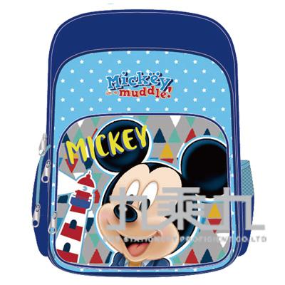 迪士尼舒適輕量護脊透氣書包贈便當袋-米奇 LW-9302A