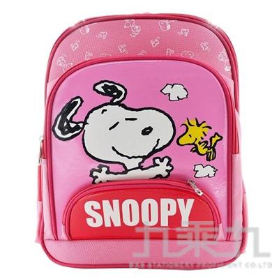 SNOOPY 立體輕量護脊透氣書包-粉紅 (贈便當袋)