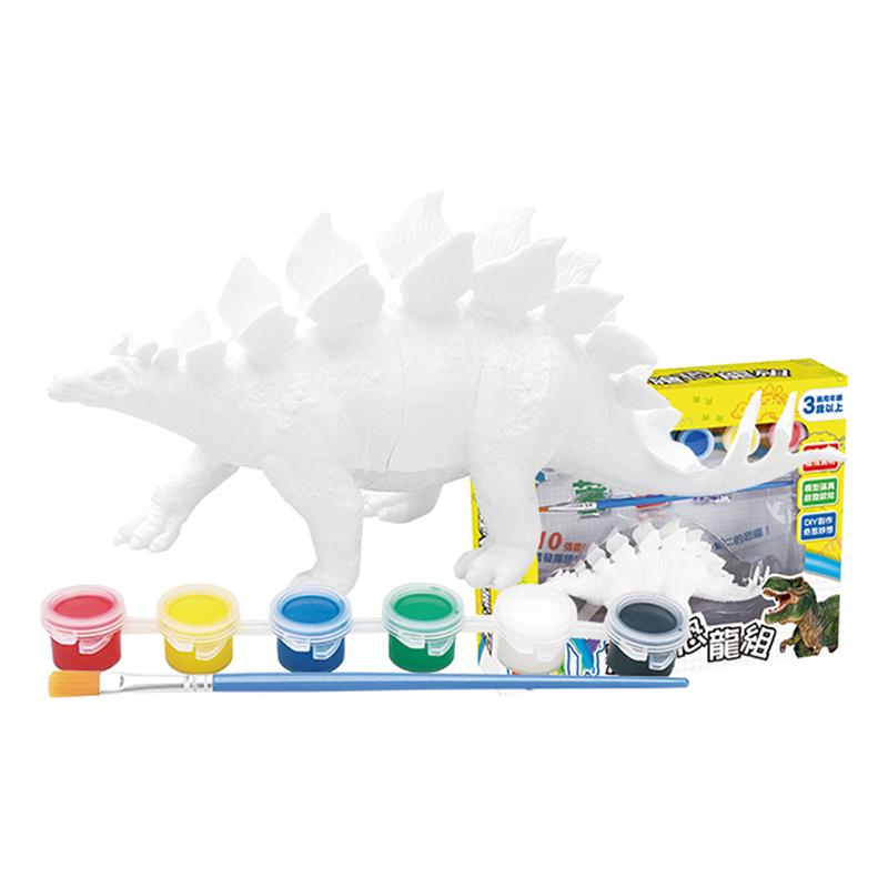 DIY恐龍彩繪組-劍龍(內附恐龍模型與10張恐龍畫紙)