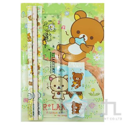 拉拉熊 OPP袋文具組B版